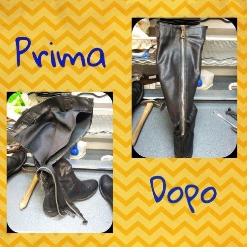 cucitura cerniera riparazione scarpe calzolaio cecina livorno toscana