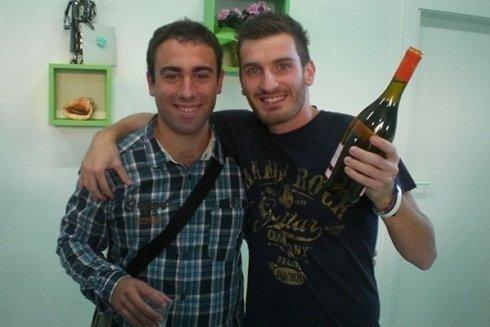 Samuel e Francesco inaugurazione laboratorio calzoleria cecina livorno