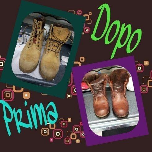 colorazione scarpe timberland calzolaio riparazione scarpe cecina livorno