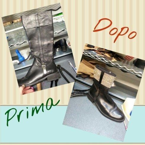 riparazioni calzature scarpe calzolaio cecina toscana stivale rimodernizzato