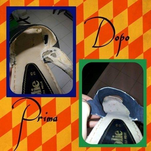 rifoderazione sandalo riparazione scarpe calzature calzolaio cecina livorno toscana