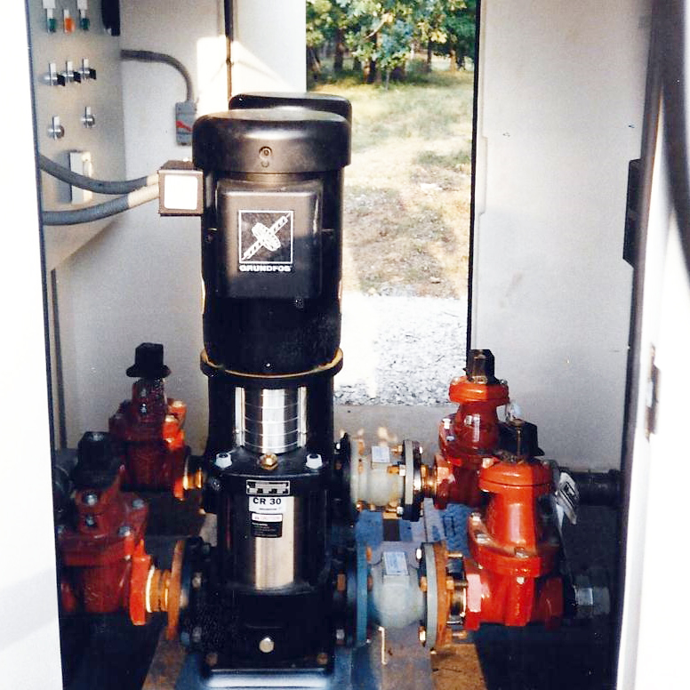 A Grundfos pump being installed in Brockwell, AR