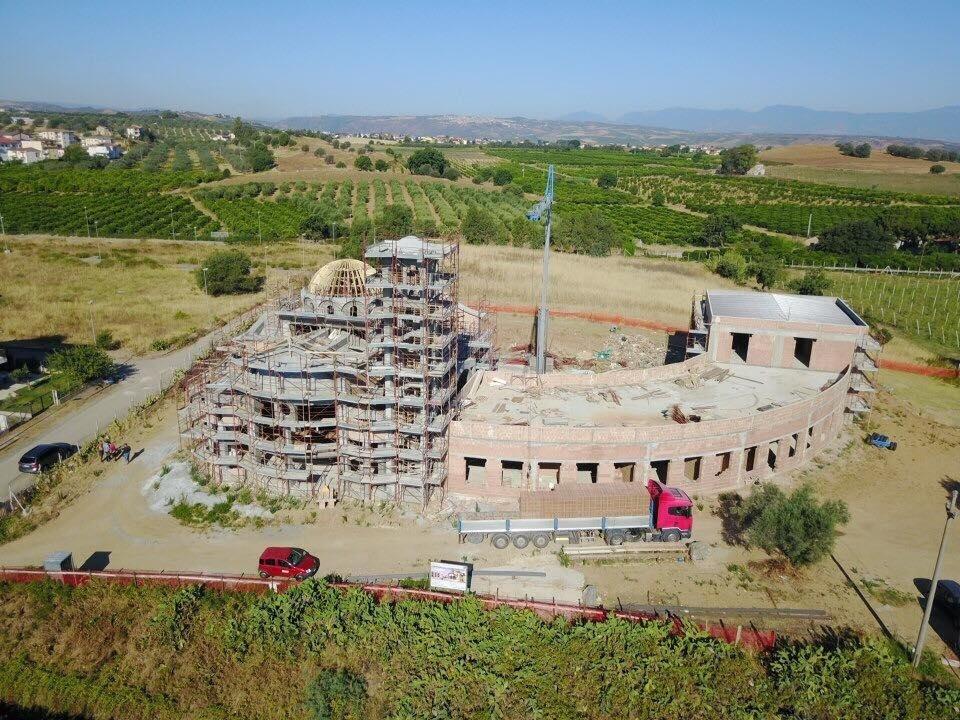 costruzione chiesa cantinella di Corigliano