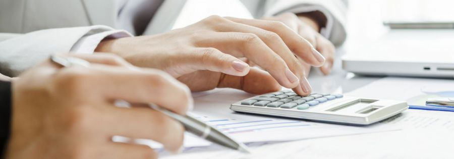 Accountant at work in an accounting company in Hamilton, OH
