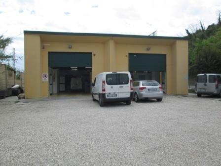 veicoli commerciali parcheggiati davanti la Carrozzeria Nuova Rinascita di Campofilone