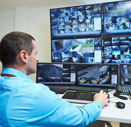 Professional keeping a watch using technolodgy