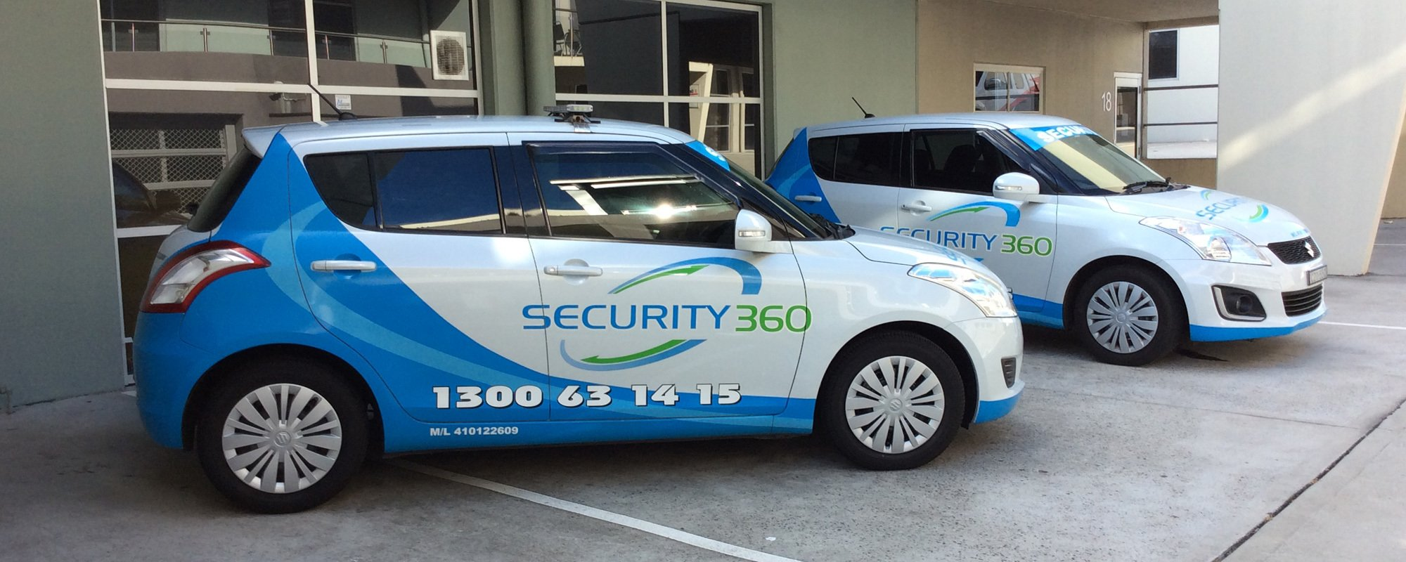 Security 360 advertisement cars