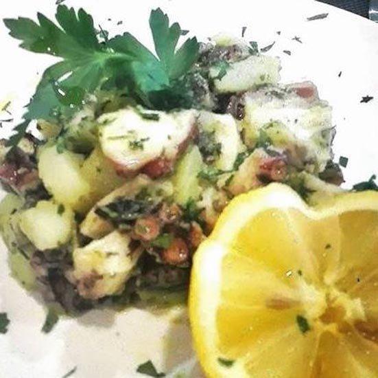 seppie e patate con limone