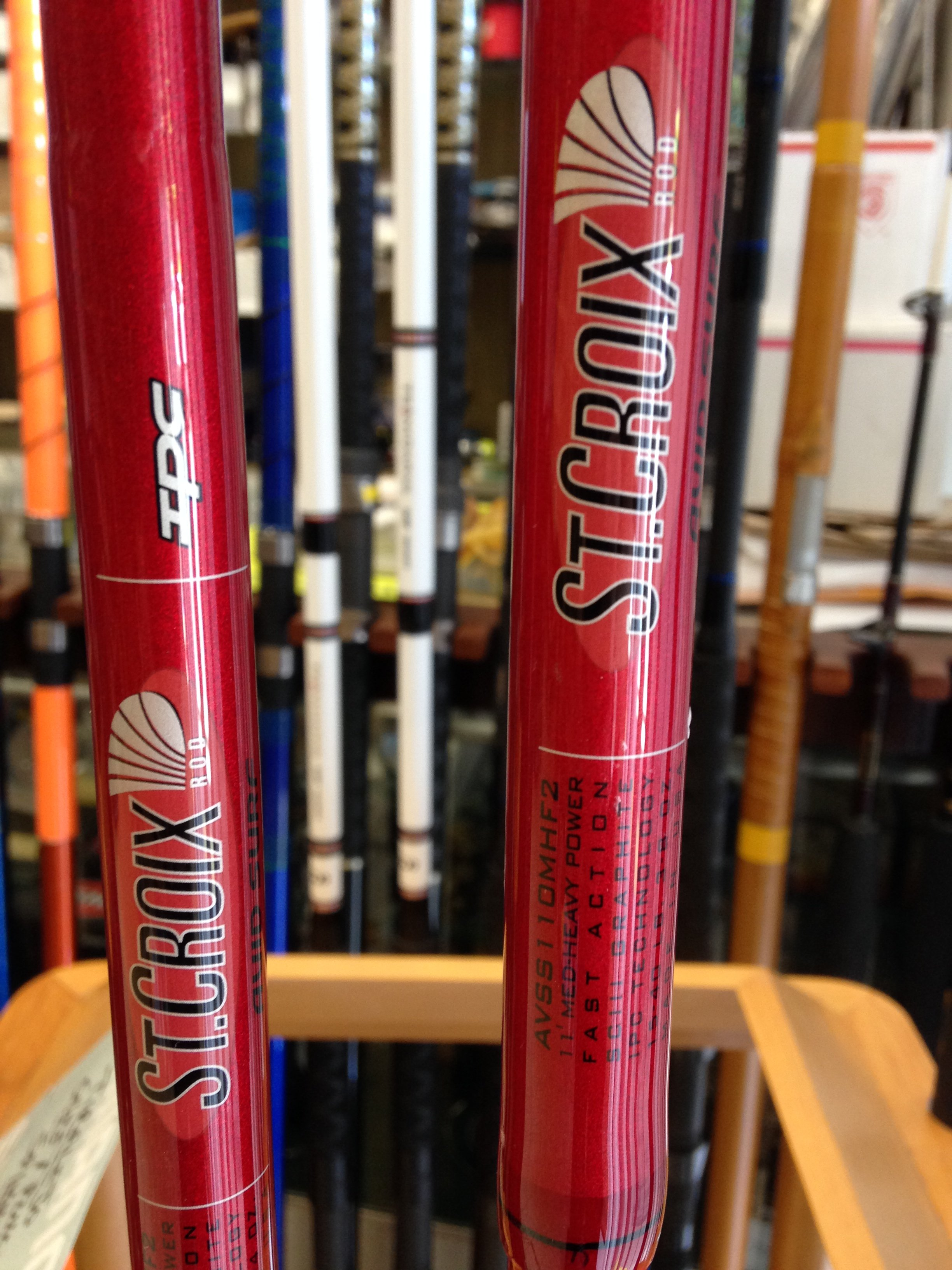 St. Croix Wild River, Avid, Legend Elite Spinning Rods and Avid Surf Rods!