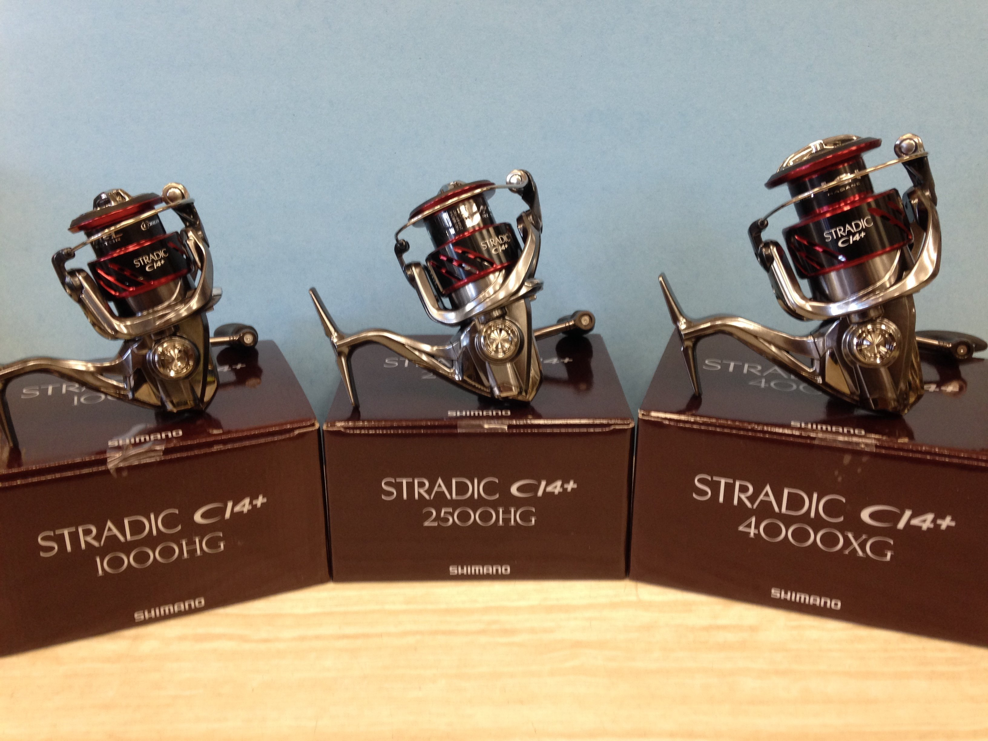 The 3rd Generation of Shimano Stradic CI4+ FB Available Now in sizes 1000HG, 2500HG, and 4000XG Coming Soon 3000HG