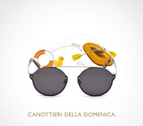 occhiali e scritta CANOTTIERI DELLA DOMENICA