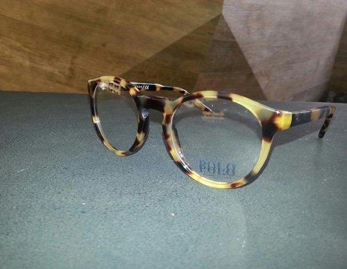 occhiali da vista con montatura tigrata