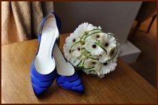 wedding flowers and shoe