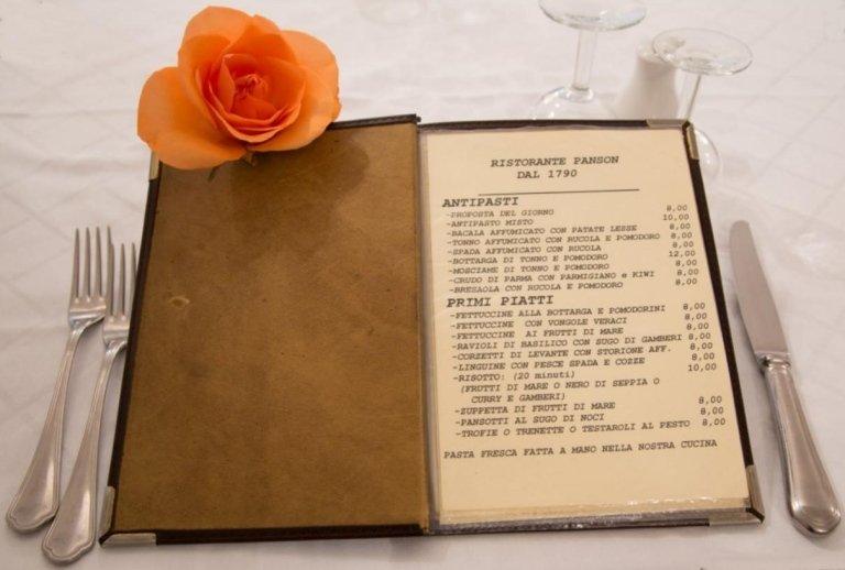 menu primi piatti