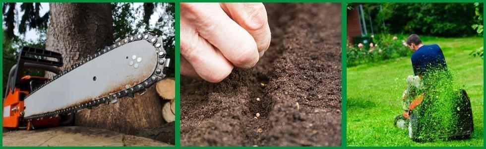 macchinari per giardinaggio, sementi