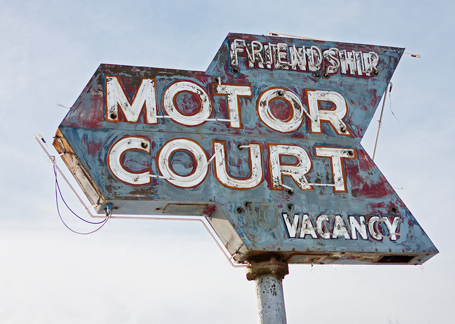 old motel sign friendship motor court Wisconsin