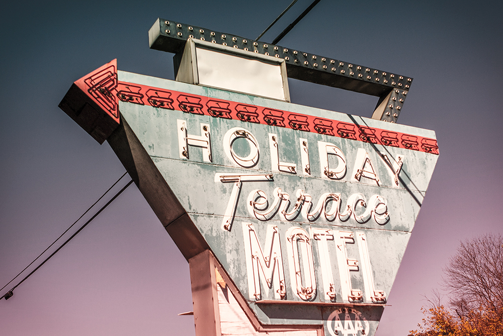 holiday terrace motel vintage sign kentucky