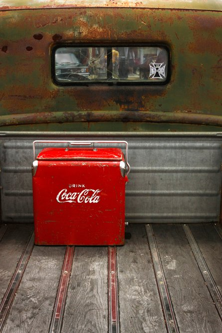 vintage coke and truck