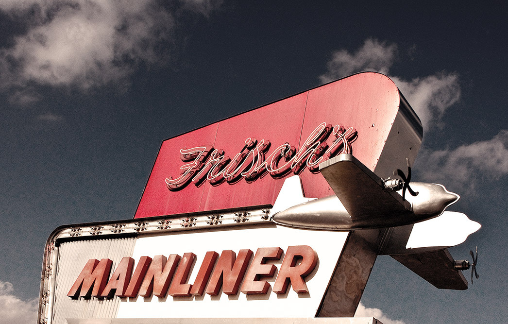 frischs mainliner old sign