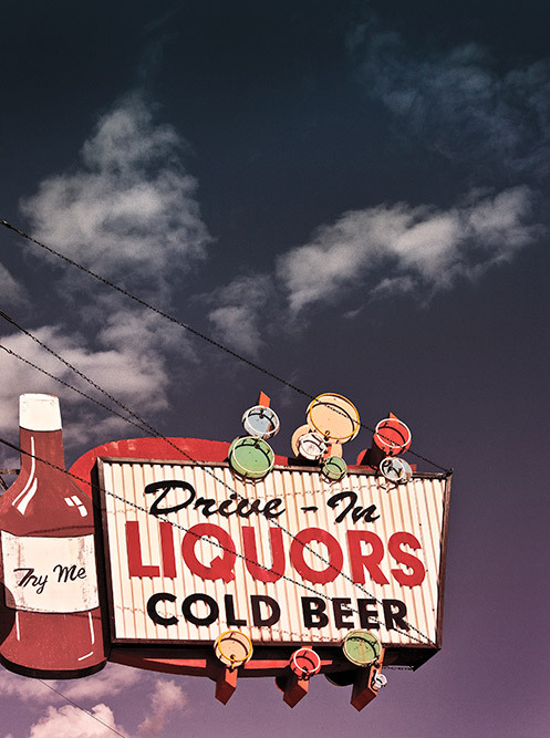 vintage liquor sign cambridge city indiana