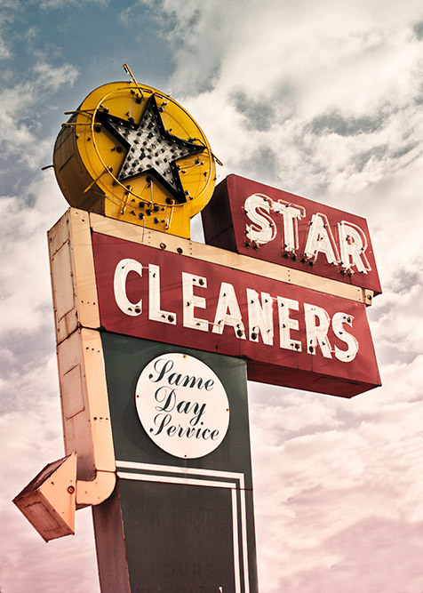 vinatge signhamilton ohio star cleaner