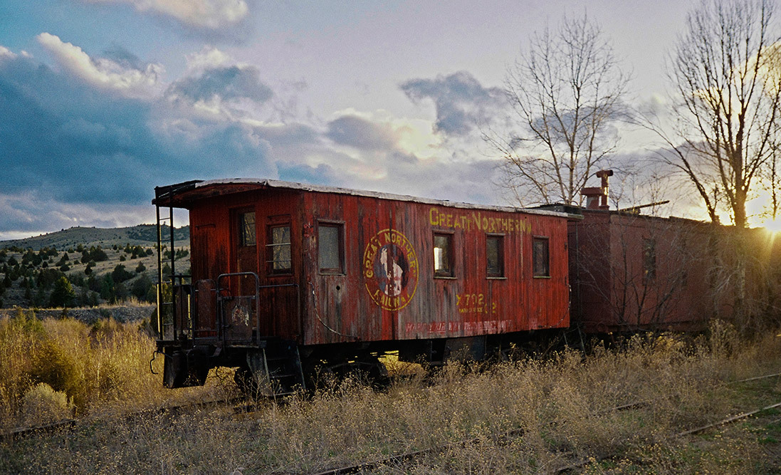 train caboose nevada city ghost town