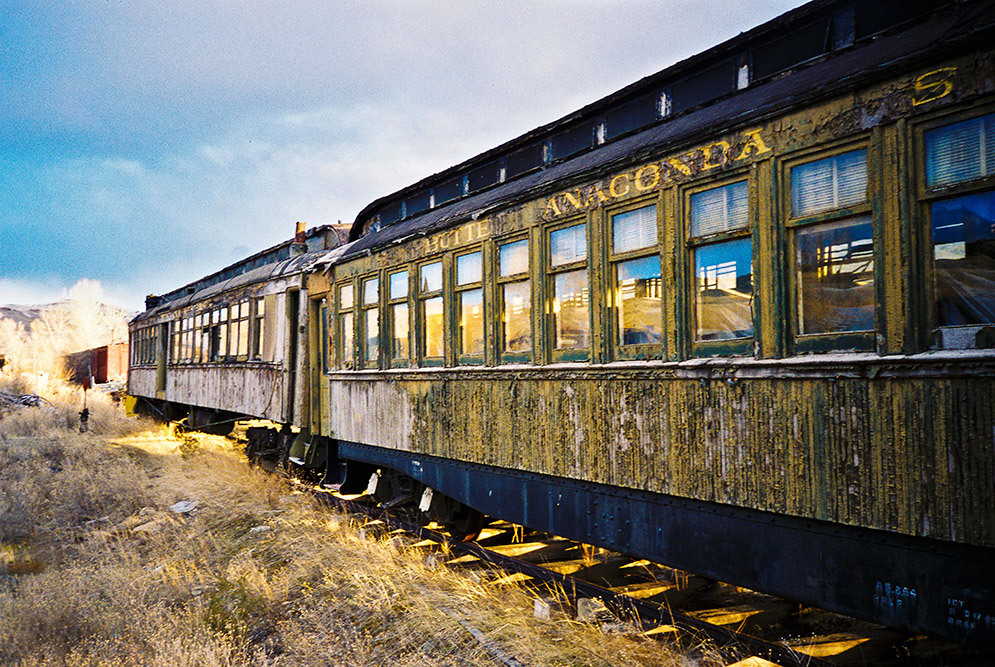 anaconda train car ghost town montana