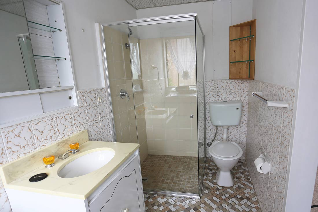 before renovation of bathroom