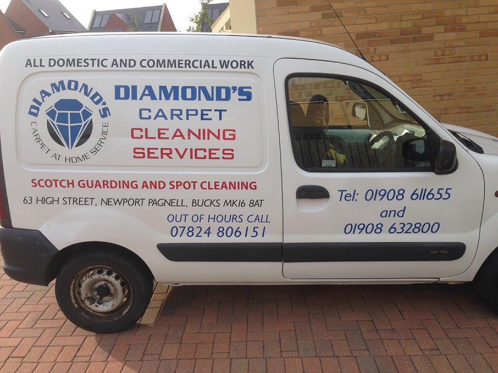 Carpet cleaning van in Milton Keynes