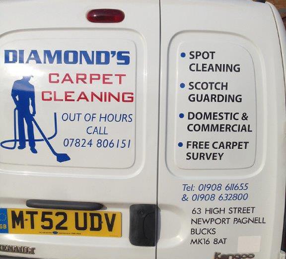 A closeup of one of our work van in Milton Keynes