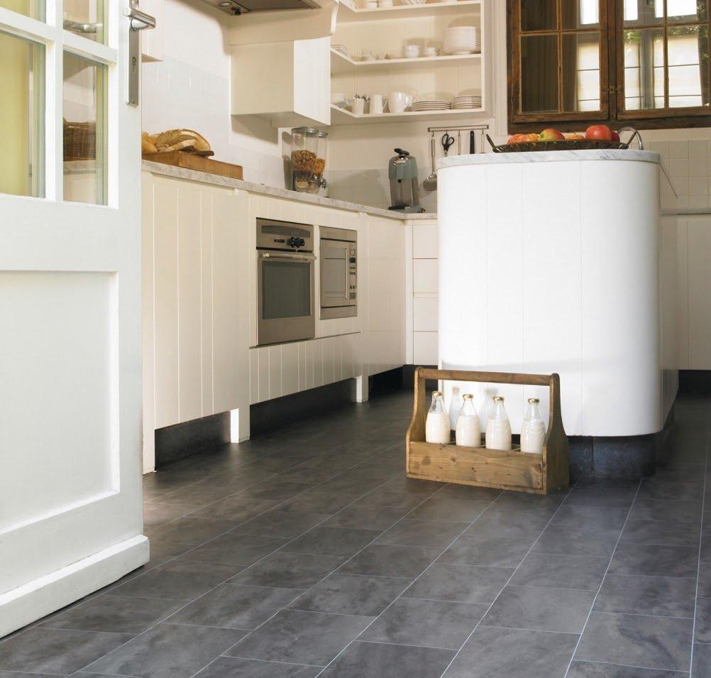 Modern vinyl flooring in a kitchen
