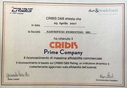 Certificazione Rating Cribis