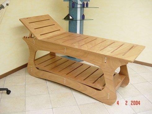 Lettino in legno
