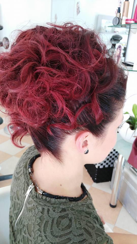Chignon capelli rossi