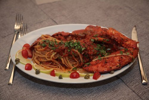 spaghetti all`astice