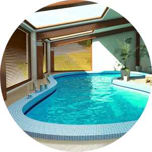 An indoor swimming pool