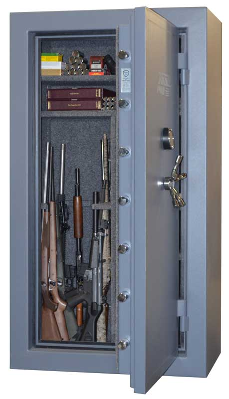 American Made Gun Safe Interior With Guns