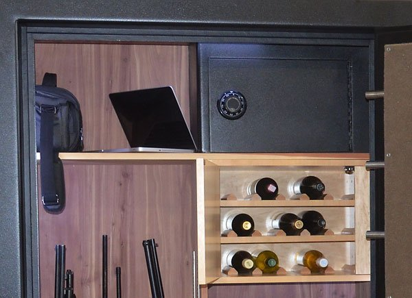 Custom Safe Interior With Wine Storage And In