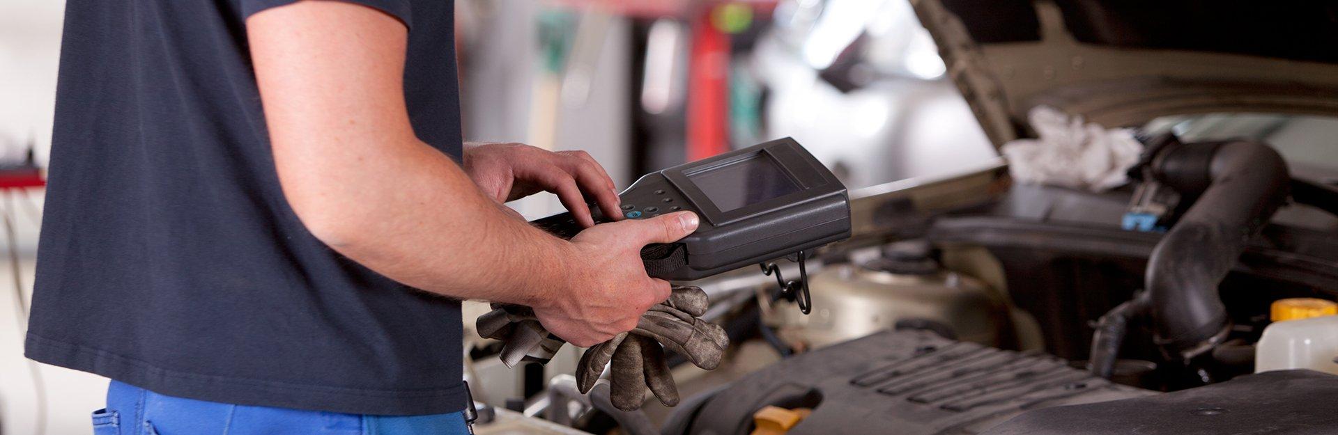 A vehicle diagnostic testing kit