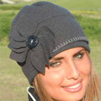 Cappelli donna in crepe lana