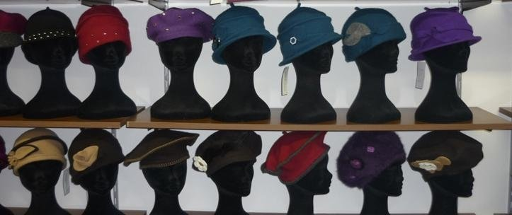 ladies' hats in wool and felt
