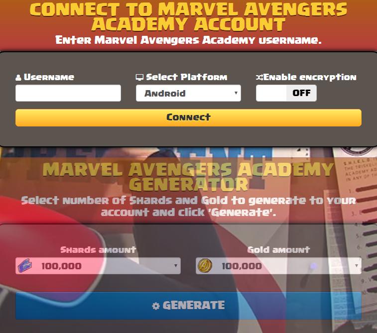 Marvel Avengers Academy Hack
