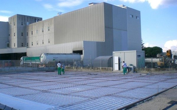 Preparazione getto cemento