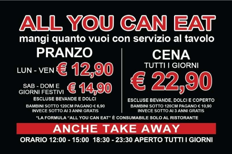promozione all you can eat