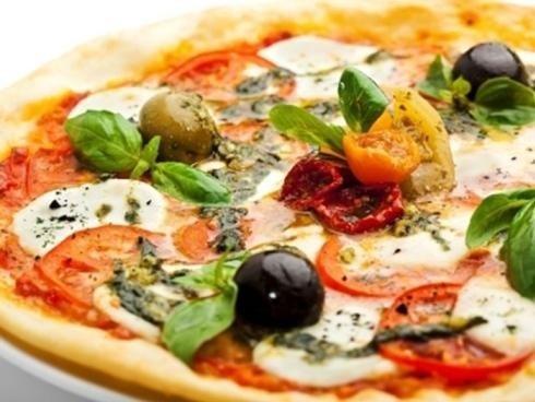 Pizza à l'assiette