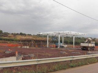 un terreno delle costruzioni in fase di attuazione