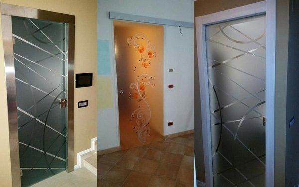 Porte scorrevoli decorate
