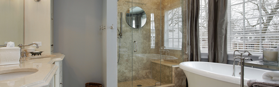 Royal renovated bathroom with marble