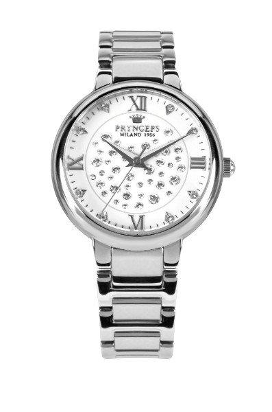 un orologio d'acciaio Pryngeps Milano con delle perline sul quadrante