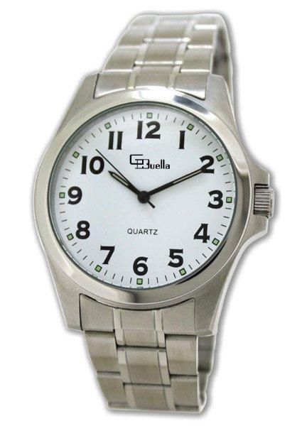 un orologio d'acciaio